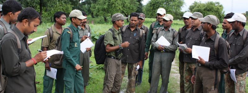 Nature guides being trained by TOFTigers' funded trainers  c TOFTigers Library